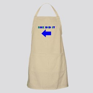 HE DID OR SHE DID IT BBQ Apron