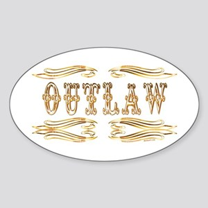 Outlaw Oval Sticker