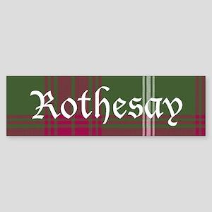 Tartan - Rothesay dist. Sticker (Bumper)