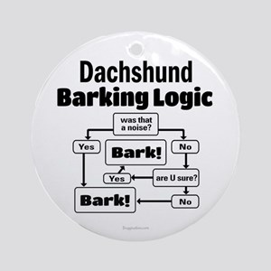 Dachshund Logic Ornament (Round)