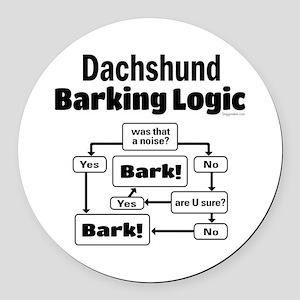 Dachshund Logic Round Car Magnet