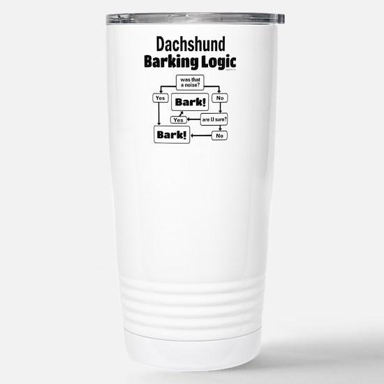 Dachshund Logic Stainless Steel Travel Mug