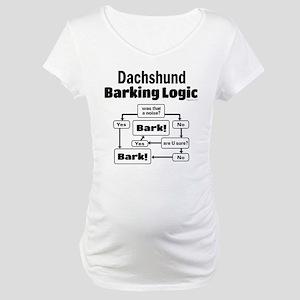 Dachshund Logic Maternity T-Shirt