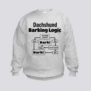 Dachshund Logic Kids Sweatshirt