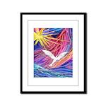 Dove Rising Framed Panel Print