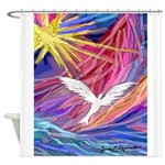 Dove Rising Shower Curtain