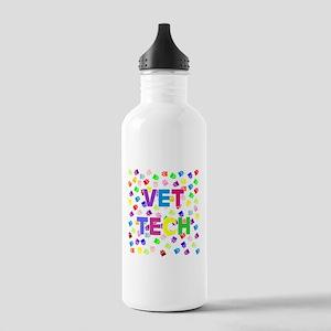 Vet Tech W/Paws Water Bottle