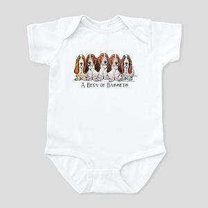 Basset Hound Bevy Infant Bodysuit