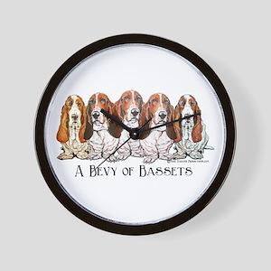 Basset Hound Bevy Wall Clock