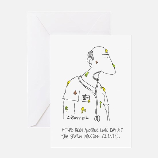 Sputum Induction Clinic Greeting Cards