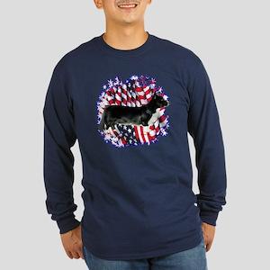 Cardigan Patriot Long Sleeve Dark T-Shirt