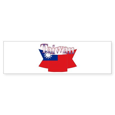 Taiwan flag ribbon Bumper Sticker