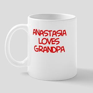 Anastasia Loves Grandpa Mug