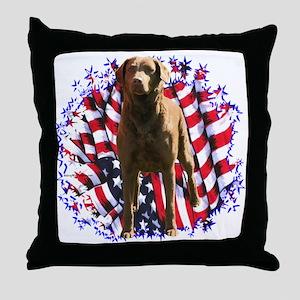 Chessie Patriotic Throw Pillow
