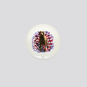 Chessie Patriotic Mini Button