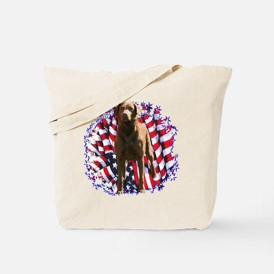 Chessie Patriotic Tote Bag