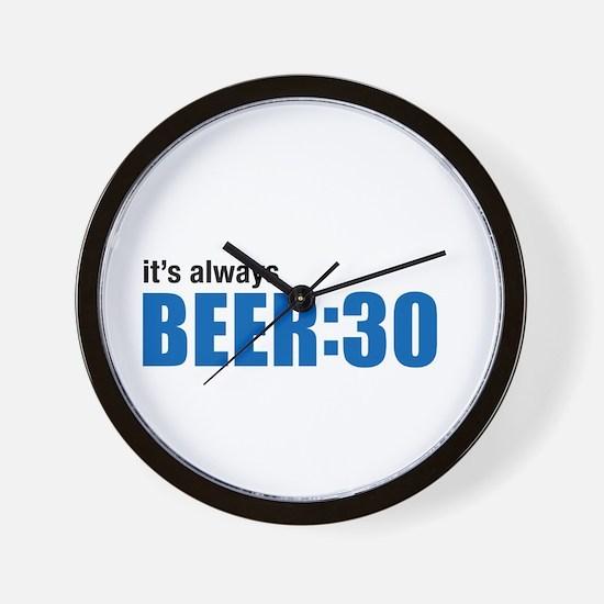 It's always BEER:30 Wall Clock