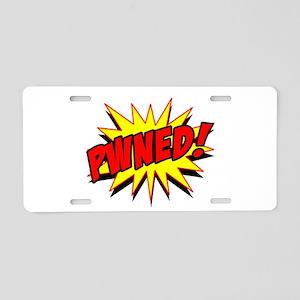Pwned! Aluminum License Plate