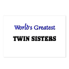 World's Greatest TWIN SISTERS Postcards (Package o