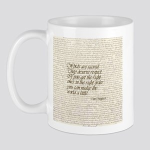 Quotes - Words are Sacred Mug