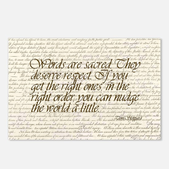 Quotes - Words are Sacred Postcards (Package of 8)