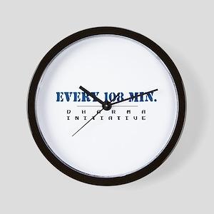 Every 108 Min. - Dharma Initiative Wall Clock