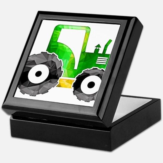 Funny Tractor Keepsake Box