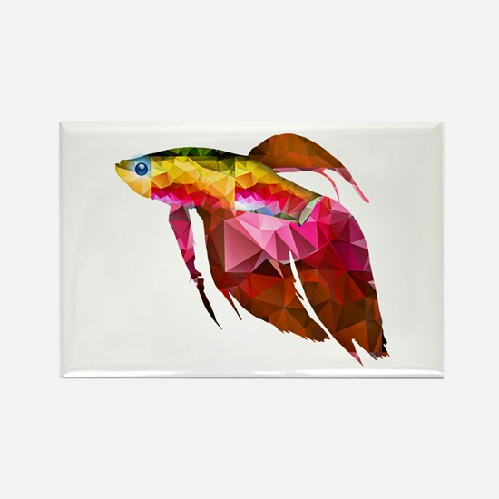 Beta Fish for Polygon Mosaic Red Yellow Magnets