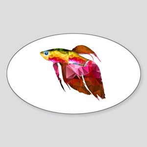 Beta Fish for Polygon Mosaic Red Yellow Sticker