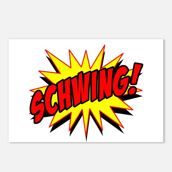 Schwing! Postcards (Package of 8)