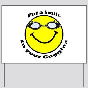 Smiling Goggles Yard Sign