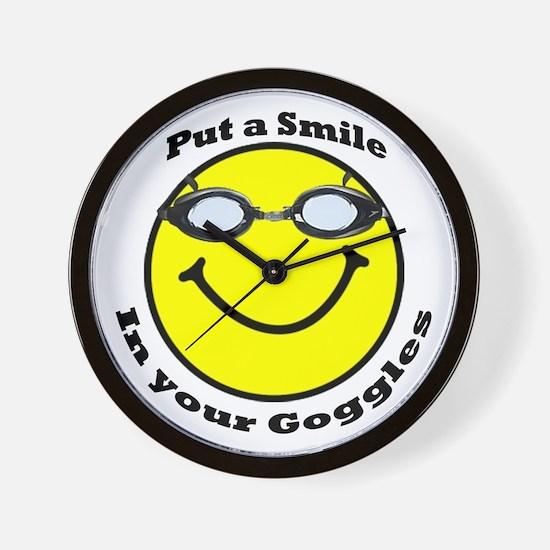 Smiling Goggles Wall Clock