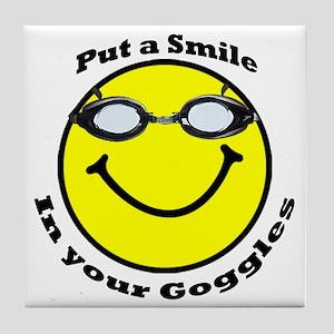 Smiling Goggles Tile Coaster