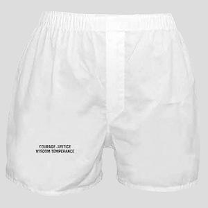 Courage Justice Wisdom Temper Boxer Shorts
