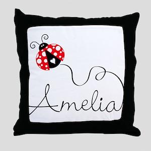 Ladybug Amelia Throw Pillow