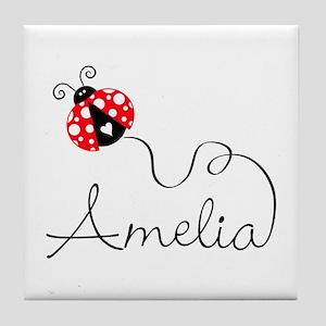 Ladybug Amelia Tile Coaster