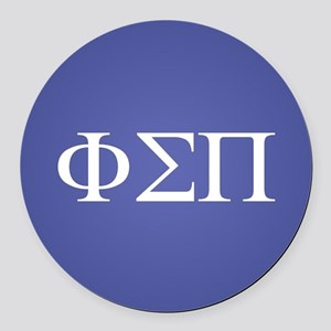 Phi Sigma Pi Letters Round Car Magnet