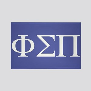 Phi Sigma Pi Letters Rectangle Magnet