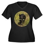 Tasmanian Devil Women's Plus Size V-Neck Dark T-Sh