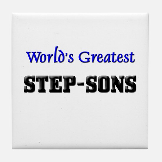 World's Greatest STEP-SONS Tile Coaster
