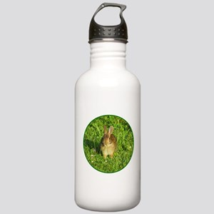 Rabbit Eating Weeds Stainless Water Bottle 1.0L