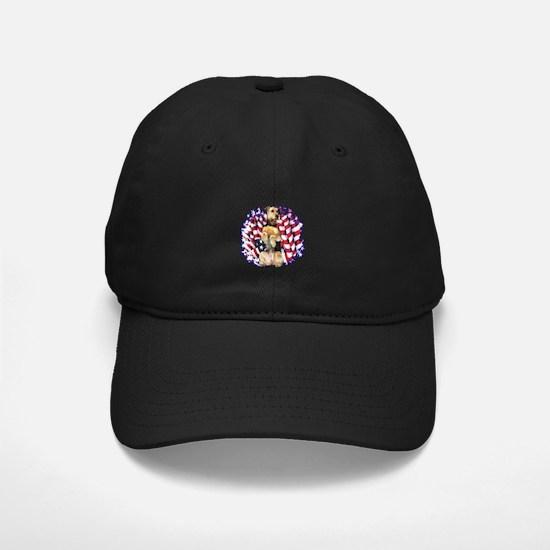 Airedale Patriotic Baseball Hat