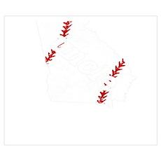 Best Uncle Baseball Shirt Georgia Softbal Wall Art Poster