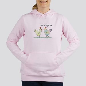 Funny Easter Egg Chicken Women's Hooded Sweatshirt