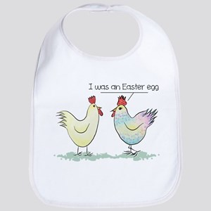 Funny Easter Egg Chicken Cotton Baby Bib