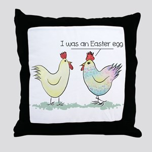 Funny Easter Egg Chicken Throw Pillow