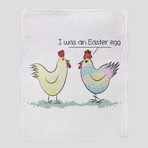 Funny Easter Egg Chicken Throw Blanket