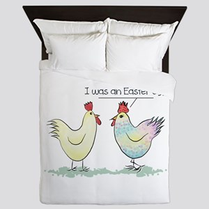 Funny Easter Egg Chicken Queen Duvet