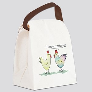Funny Easter Egg Chicken Canvas Lunch Bag
