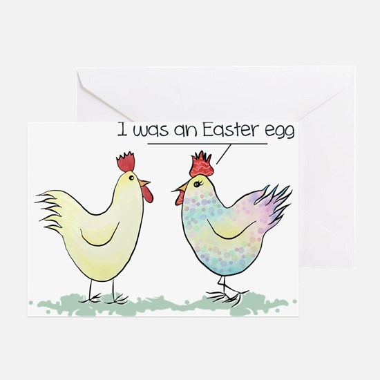 Funny Easter Egg Chicken Greeting Card